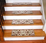 Dean Premium Carpet Stair Treads - Persian Crown Ivory (Set of 13)