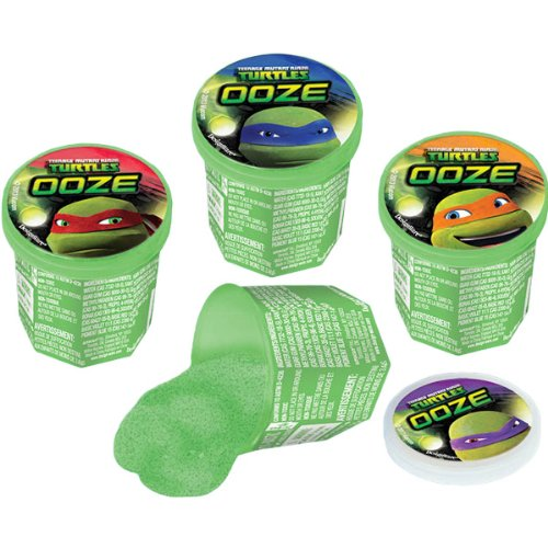 "Amscan Awesome TMNT Ooze Putty Birthday Party Favor, 1.3 x 1.6"", Green"