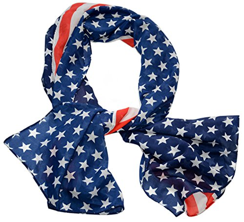 Us Usa Flag Chiffon Scarf