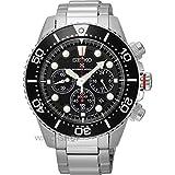 [セイコー]SEIKO SSC015P1 ダイバーズ ソーラー クロノグラフ 自動巻き ブラック×シルバー メンズ腕時計 [逆輸入品]