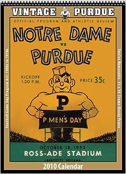 Vintage Purdue Boilermakers 2010 Football Program Calendar ...