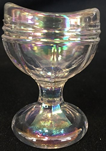Eye Wash Bath Cup - American Made (Raised Rib, Crystal Carnival) Crystal Carnival Glass