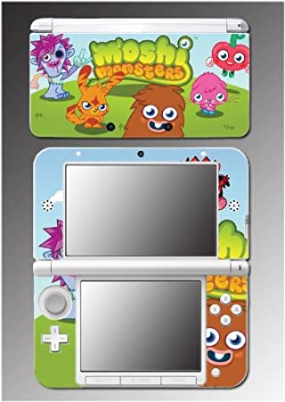 Moshi Monsters Virtual Pet Monstro City Video Game Vinyl Decal Cover Skin Protector 8 for Nintendo 3DS XL