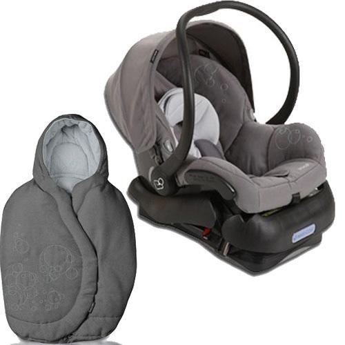 Quinny 2011 Mico Car Seat and Footmuff Set in Steel Gray