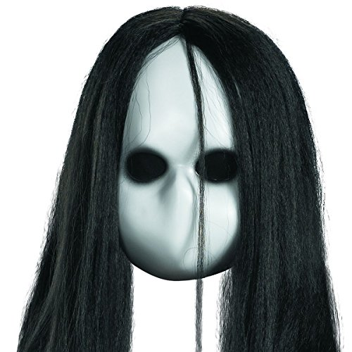 [Creepy Doll Costume Mask Scary Baby Ghost Halloween Fancy Dress] (Creepy Doll Halloween Costume)