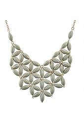Jane Stone Tessellate Net Fashion Statement Beaded Jewelry Bib Necklace for Women