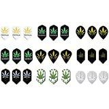 9 Sets (27 Pieces) Of Pot Leaf Slim Size Dart Flights - Assorted Designs