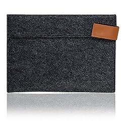 kwmobile Sleeve Case for Apple iPad Air / Air 2 made of durable felt in dark grey