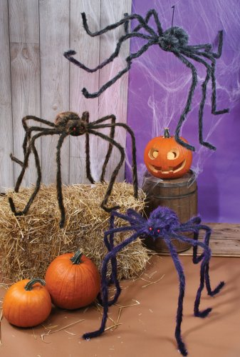 Fun World 90″ Hairy Spider (Colors May Vary)