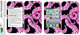Graphics and More Protective Skin Sticker Case for iPhone 3G 3GS - Non-Retail Packaging - Octopus Tentacles Pink on Black, Squid Kraken