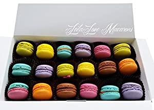Macarons - Mini Macarons - 18 Assorted Chocolate and Fruit Flavors
