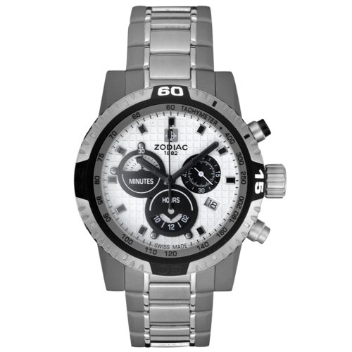 Zodiac Men's ZO7101 Race Dragon Racer Collection Chronograph Stainless Steel Watch
