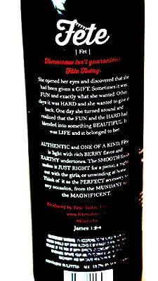 2014 Fete Petite Sirah, Lodi, CA 750 ml red wine