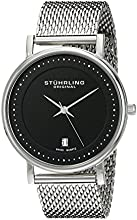 Stuhrling Original Classic Ascot Casatorra Elite men's quartz Watch with black Dial analogue Display and silver stainless steel Bracelet 734GM.02