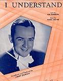 I Understand Jimmy Dorsey Vintage Sheet Music Z3086