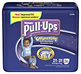 Huggies Pull-Ups Training Pants, Nighttime, Boys, 2T-3T, 24-Count (Pack of 4)