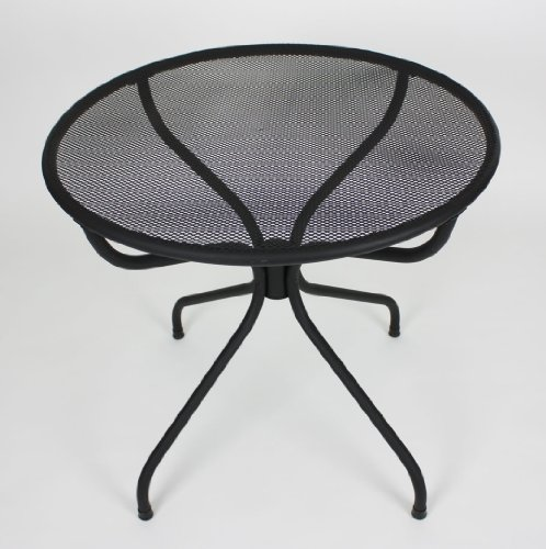 All-weather Metal Patio Table - Black Powder Coated (Round 32)