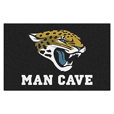 FANMATS 14318 NFL Jacksonville Jaguars Nylon Universal Man Cave UltiMat Rug
