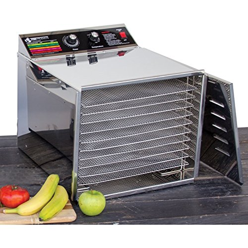 TSM Products Stainless Steel Food Dehydrator with 10 Stainless Steel Shelves (Dehydrators Stainless compare prices)