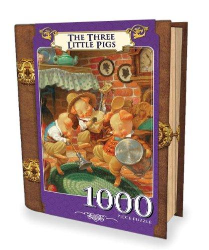 1000-Piece Three Little Pigs Puzzle Art by Scott Gustufson