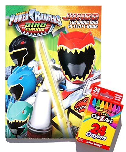 Sabans Power Rangers Dino Charge Jumbo Coloring And Activity Book With Cra Z Art Crayons