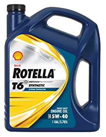 Rotella 550019921-3PK T6 5W-40 Full Synthetic Heavy Duty Diesel Engine Oil (CJ-4) - 1 Gallon Jug Pack of 3