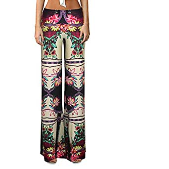 Free to Live Women's Wide Leg Boho Palazzo Gaucho Pants High quality M