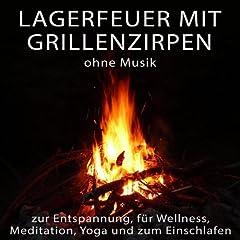 Lagerfeuer mit Grillenzirpen ohne Musik zur Entspannung, f�r Wellness, Meditation, Yoga und zum Einschlafen