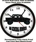 AM GENERAL HUMMER WALL CLOCK-FREE USA SHIP!