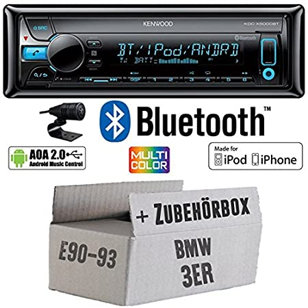 BMW 3E9x-Kenwood de X5000bt-Bluetooth Kit de montage autoradio CD/MP3/USB varioc OCTOCOLOR -