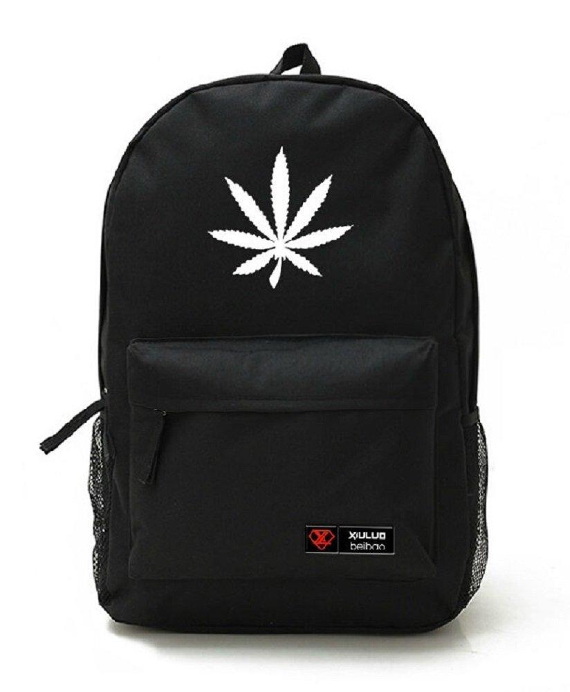 YOYOSHome® Unisex Marijuana Weed Leaf Cannabis Backpack School Shoulder Bag