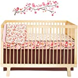 Skip Hop Complete Sheet 4 Piece Crib Bedding Sets, Springtime Birdie