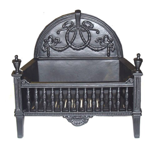 Traditional Cast Iron Fire Basket Dog Grate Suitable for Burning Logs and Solid Fuel (Royale)