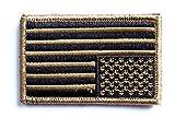 United States of America アメリカ 国旗 米国 US FLAG 国章 刺繍 パッチ 5x10cm ワッペン ベルクロ付    L950