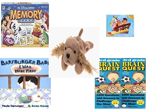 Children's Gift Bundle - Ages 3-5 [5 Piece] - The Disney Edition Memory Game - Jake and the Never Land Pirates 24 Piece Puzzle Toy - Ty Beanie Baby - Spunky the Cocker Spaniel Dog - Barfburger Baby, (Brain Quest Grade 4 3rd Edition compare prices)