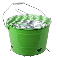 St. Millers Portable Barbecue Grill Bucket Type, 1Pc,Green