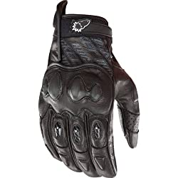 Joe Rocket Supermoto 2.0 Men's Leather Sports Bike Motorcycle Gloves - Black/Black / 3X-Large