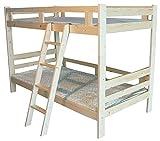 (RH)木製二段ベッド 二段ベッド 2段ベッド シングルベッド すのこベッド シンプルデザイン3色選べる (ナチュラル)
