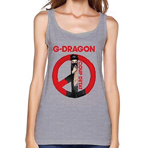 JuDian G-Dragon Solo Coup Detat Logo Tank Top For Women (Good Boy G Dragon Shirt compare prices)