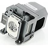 Qcoo ELPLP57 V13H010L57 Replacement Lamp With Housing For Projector Epson 450W 460 EB-440W EB-450W EB-450Wi EB... - B01CCRYK7C