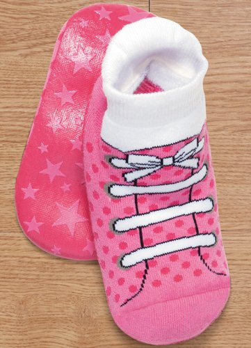 Cheap Puket Girls Pansock Booties, Hot Pink w/ Laces (B004X2HN88)