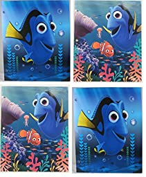 Disney Finding Dory 4 Plastic Portfolio Folder Set