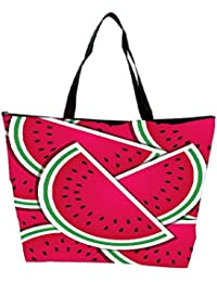 Snoogg Watermelon Wedge Background Card In Vector Format Waterproof Bag Made Of High Strength Nylon