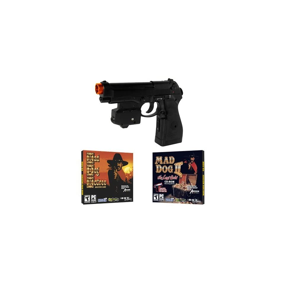 EMS Top Gun 3 Mad Dog McCree PC Game Pack Wireless Light Gun for PC