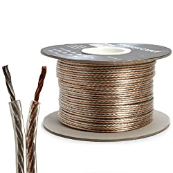 Loudspeaker wire 16 AWG 2 conductor, 300 ft, clear color