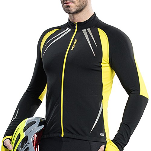 Santic Men's Cycling Fleece Thermal Winter Jacket Yellow-Gabriel X-Large (Thermal Bicycle Jacket compare prices)