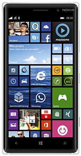 Nokia Lumia 830 Smartphone (Snapdragon 400 Prozessor, 12,7 cm (5 Zoll), 1,2GHz, 10 Megapixel Kamera, Touchscreen, Win 8.1) wei�