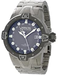 Invicta Men's 0648 Reserve Collection Sea Excursion GMT Light Grey Dial Stainless Steel Watch