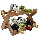 Autree Bamboo Countertop Wine Rack 6-bottles