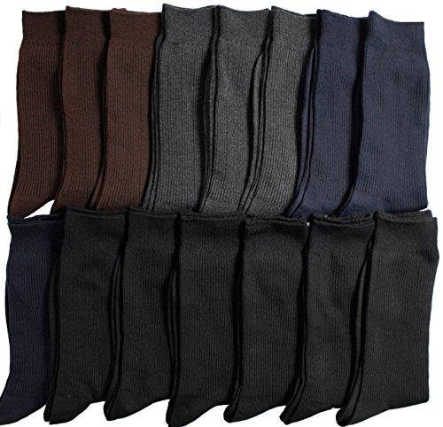 【靴下 メンズ】 仕事用にもオフ用にも大活躍のリブソックス 15足セットメンズソックス紳士靴下